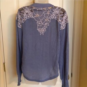 Free People Tops - Blue Top FREE PEOPLE Crochet Embroidered NWT